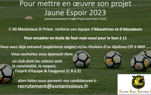 recrutement educateurs saison 2021 2022